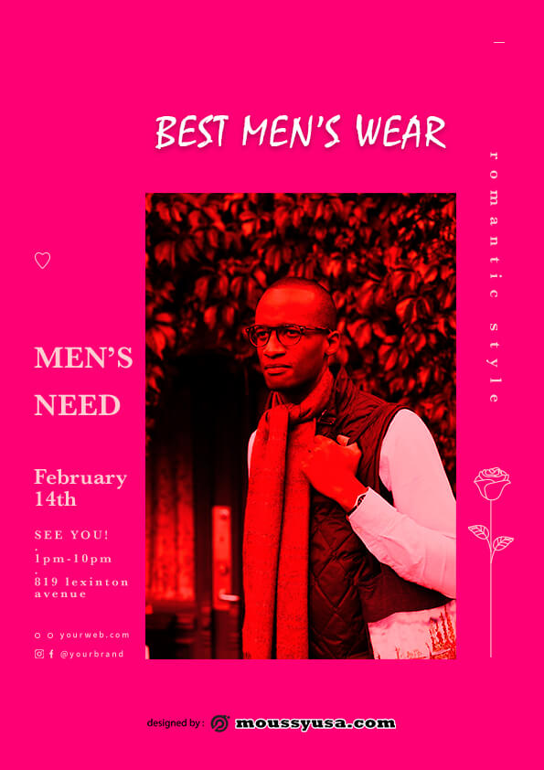 sample Mens Wear Flyer templates