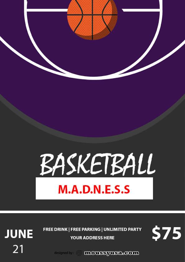 sample basketball madness flyer templates