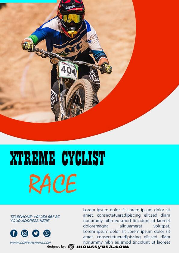 sample bicyle racing flyer templates