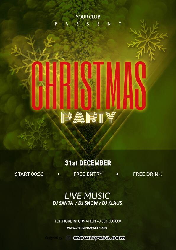 sample christmas party flyer templates