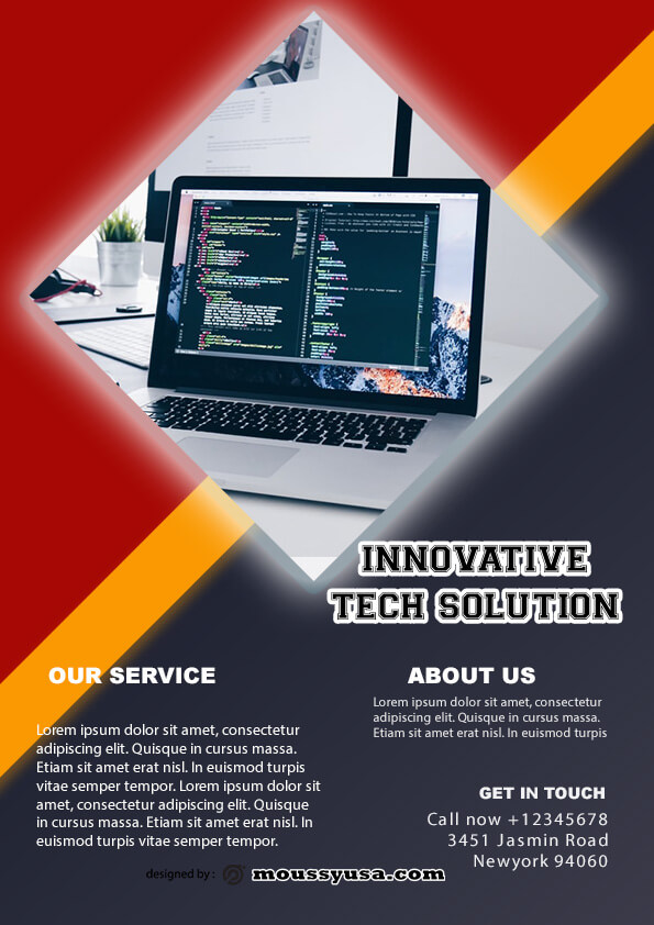 sample computer service flyer templates