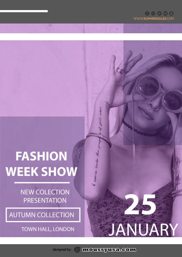 sample fashion week show flyer templates