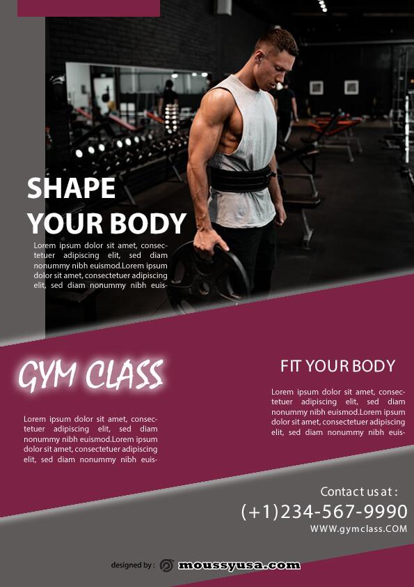 sample fitness class flyer templates