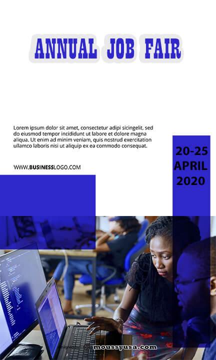 sample free job fair flyer templates