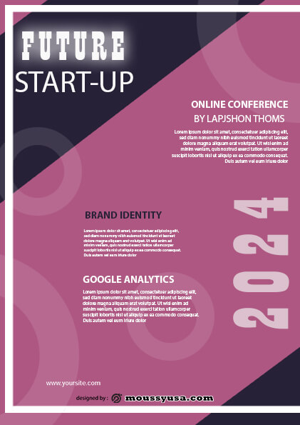 sample future startup flyer templates