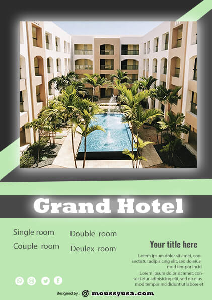 sample grand hotel flyer templates