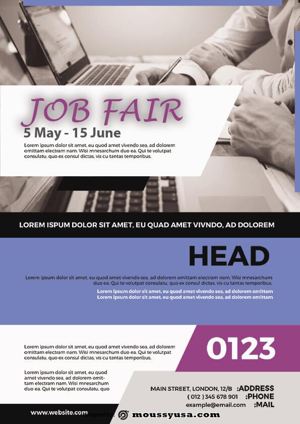 sample job fair flyer templates