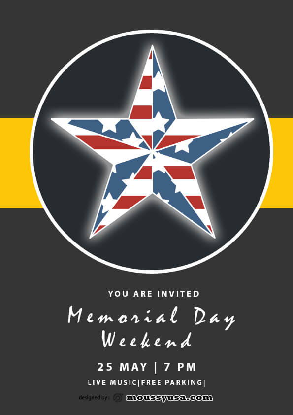 sample memorial day weekend flyer templates