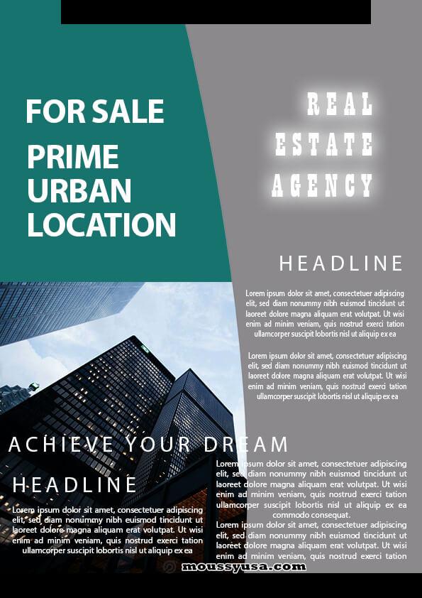 sample minimal real estate flyer templates