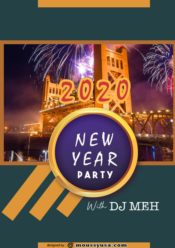 sample new year flyer templates