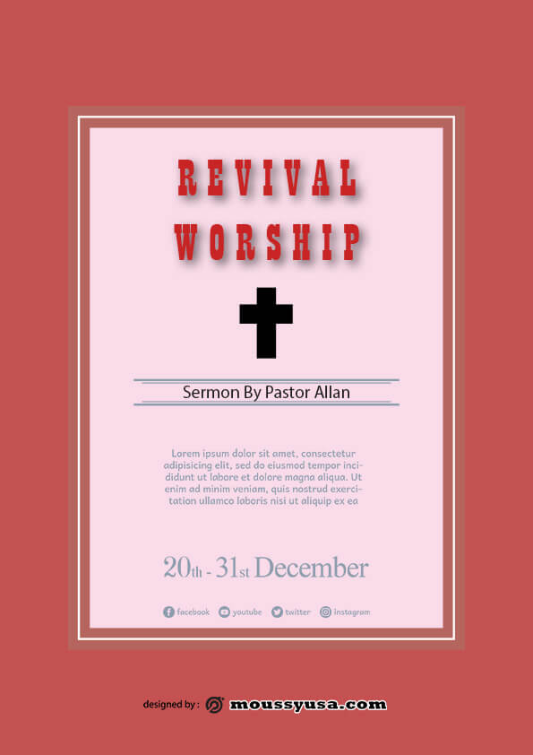 sample revival flayer templates