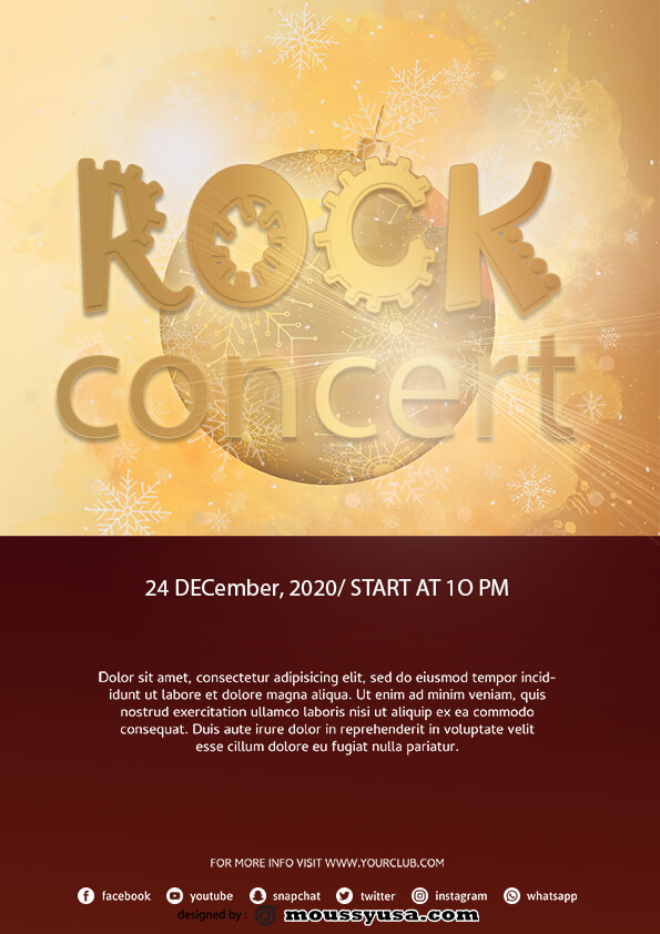 sample rock concert flyer templates