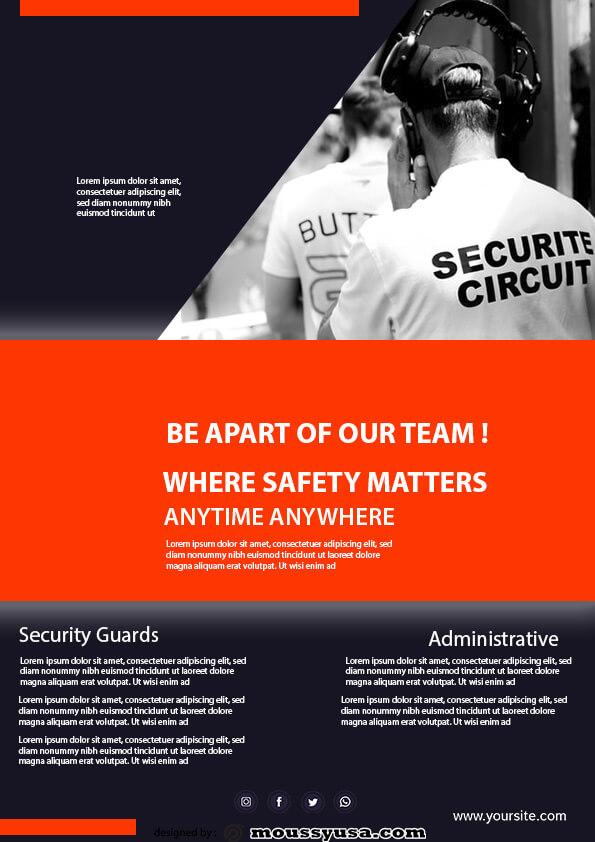 sample security guard templates