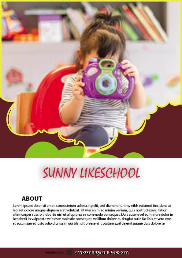 sample simple preschool flyer templates