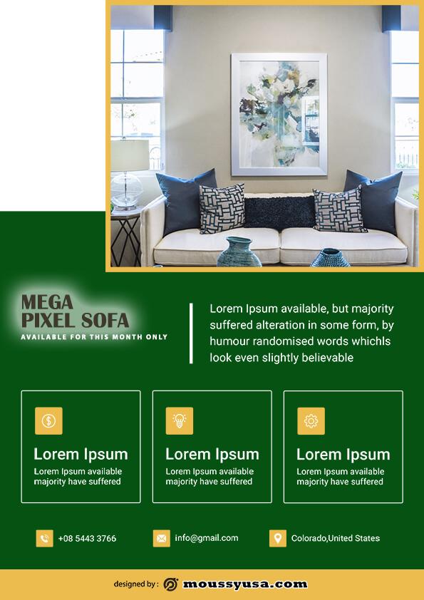 sample sofa mega sale flyer templates