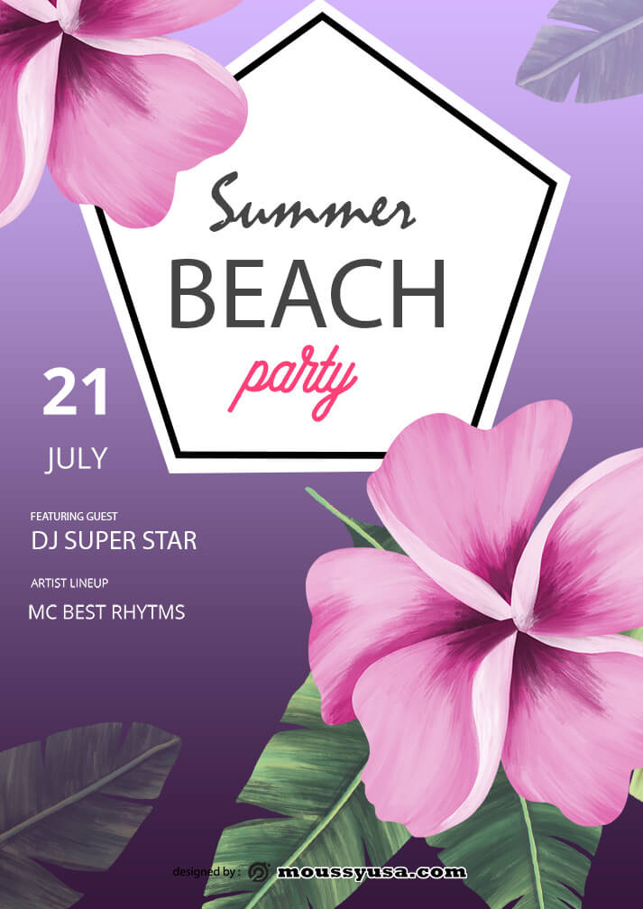 sample summer beach party templates