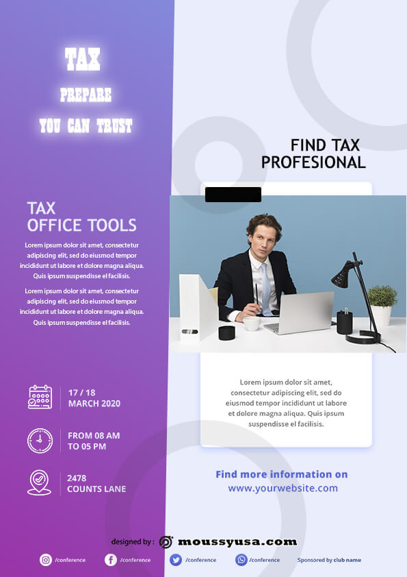sample tax prepare flyer templates