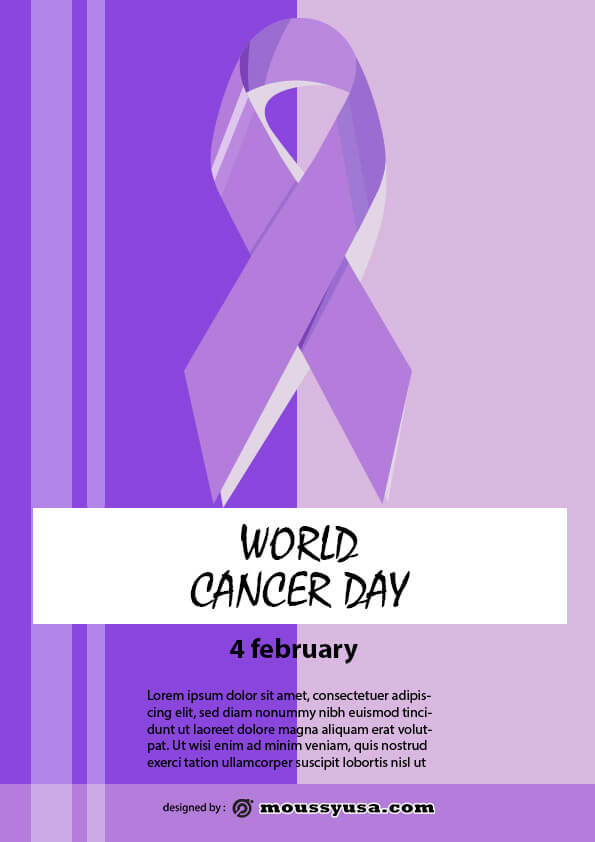 sample world cancer day flyer templates