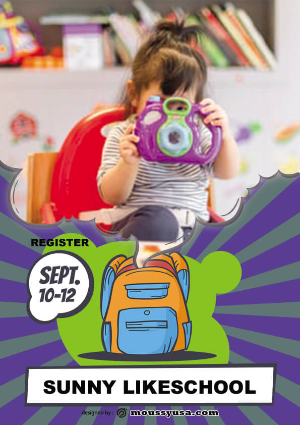 simple preschool flyer template sample