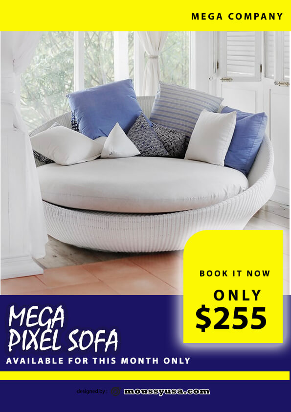 sofa mega sale flyer template ideas