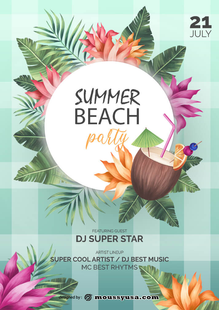 summer beach party template design