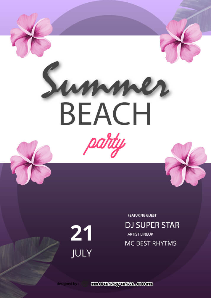 summer beach party template ideas