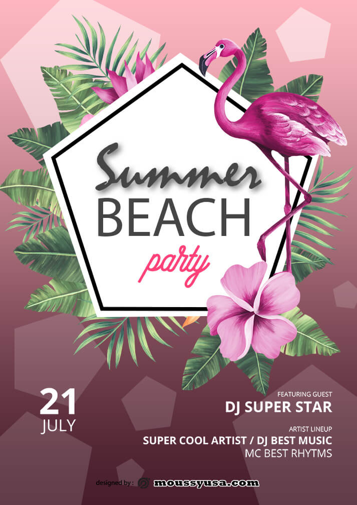 summer beach party template sample
