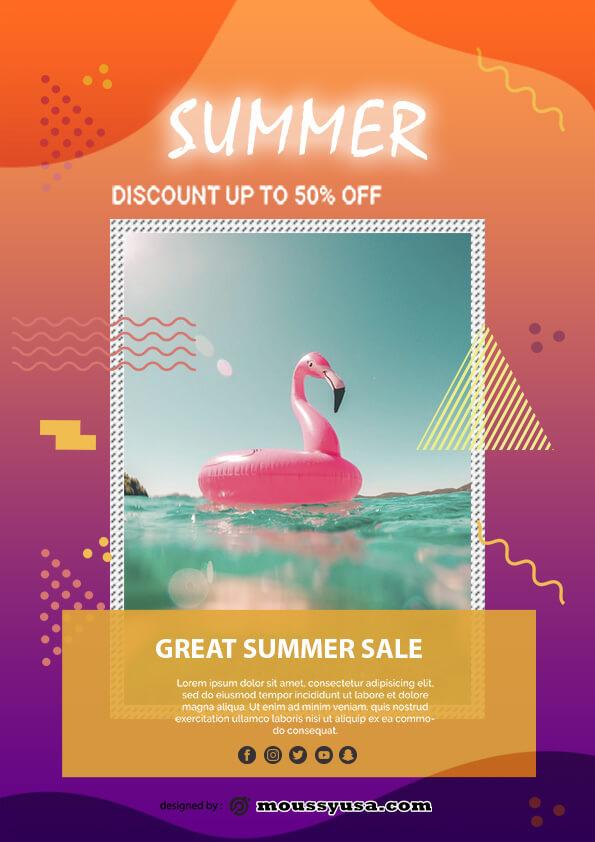 summer sale template design