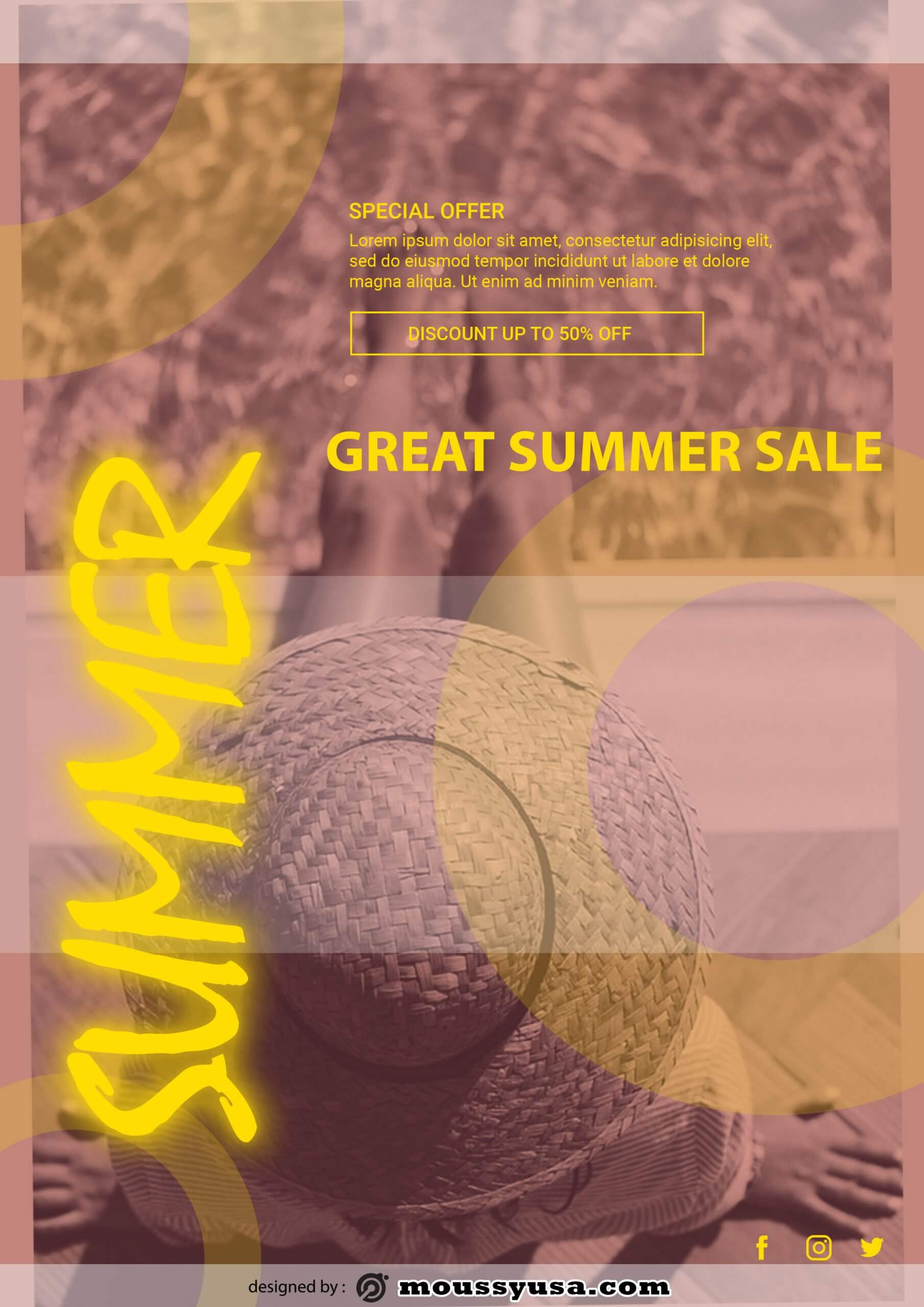 summer sale template sample