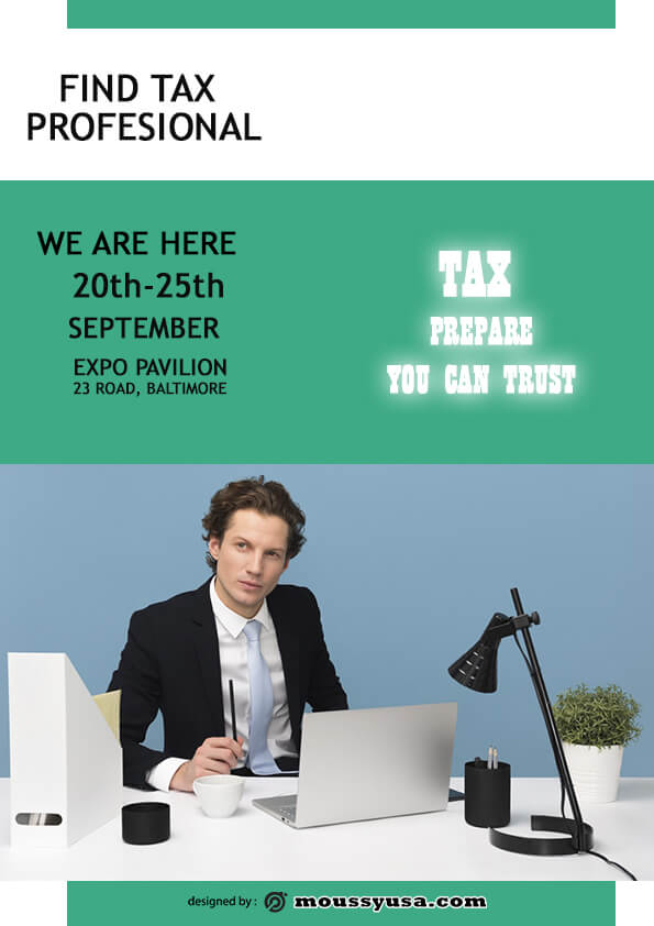 tax prepare flyer template design