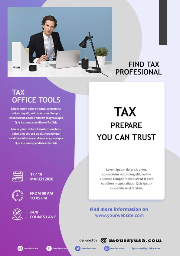 tax prepare flyer template sample