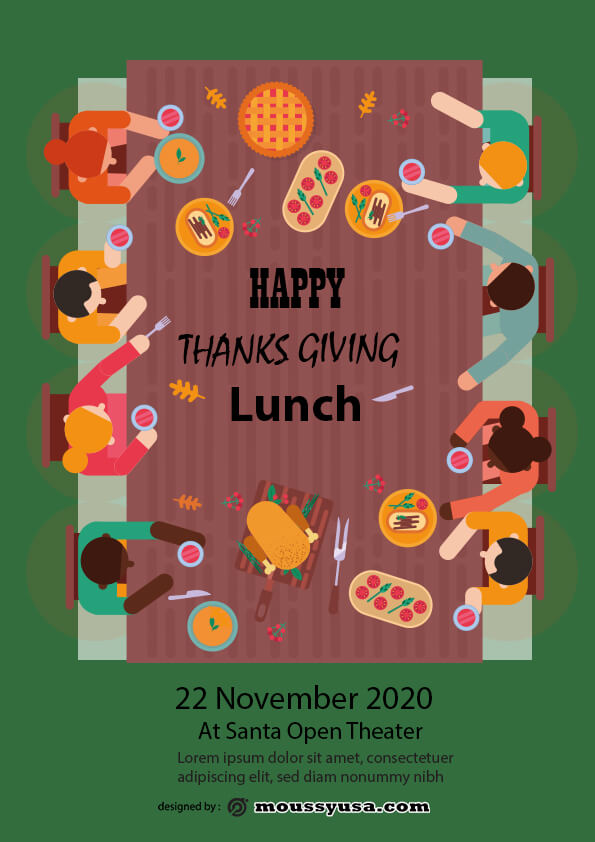 thanks giving lunch flyer design ideas