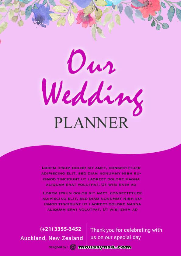 wedding planner flyer design ideas