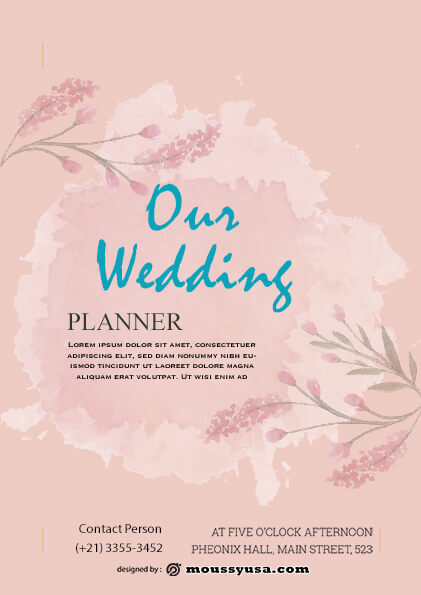 wedding planner flyer design psd