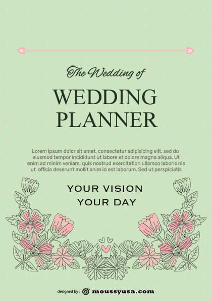 wedding planner flyer design template