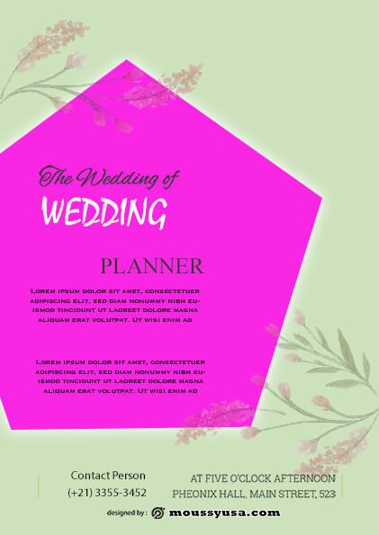 wedding planner flyer template example