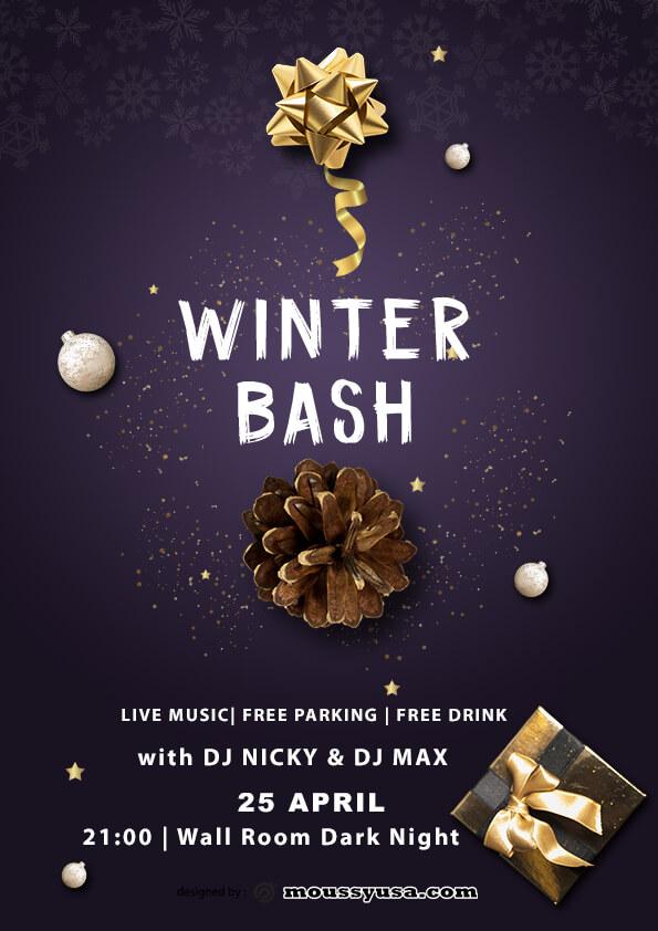 winter bash template design
