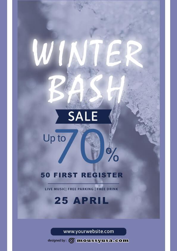 winter bash template ideas