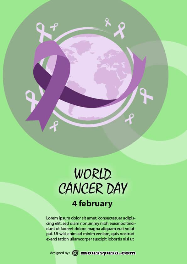 world cancer day flyer template design
