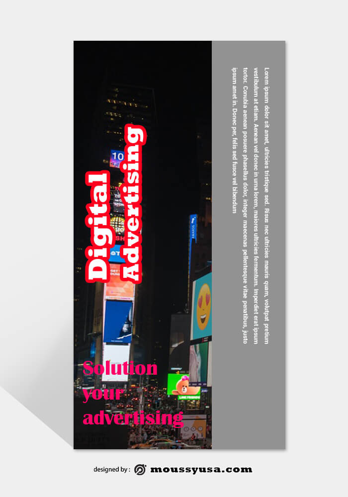 Advertising Agency Rack Card Template Design
