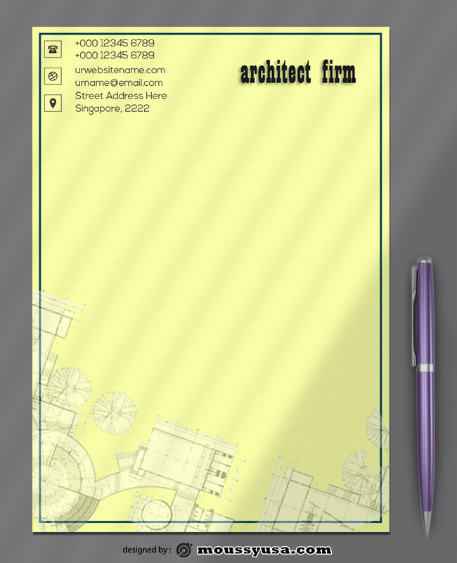 Architect Firm Letterhead Design Ideas