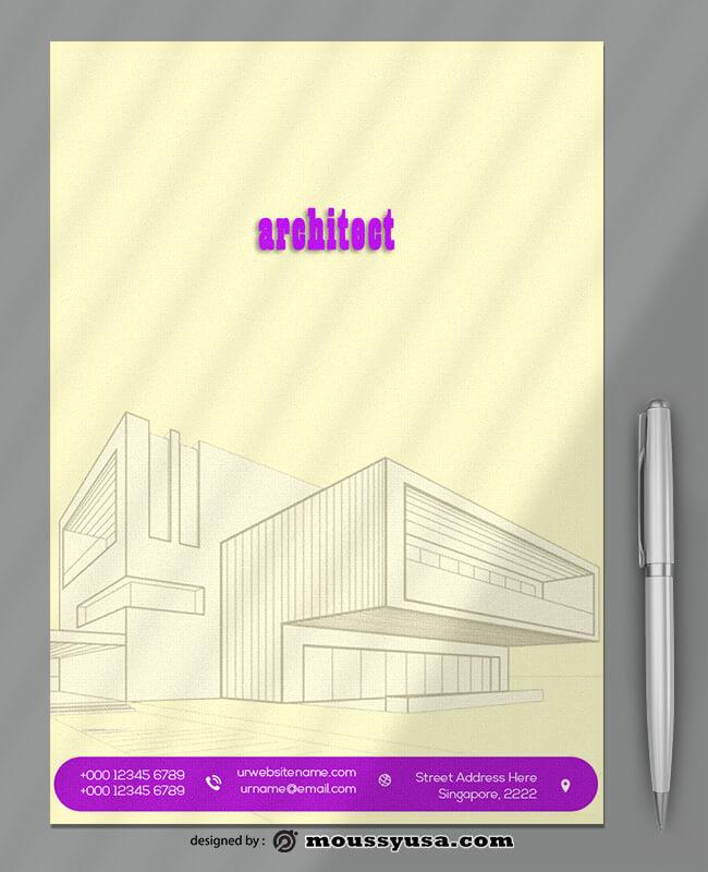 Architect Firm Letterhead Design Template