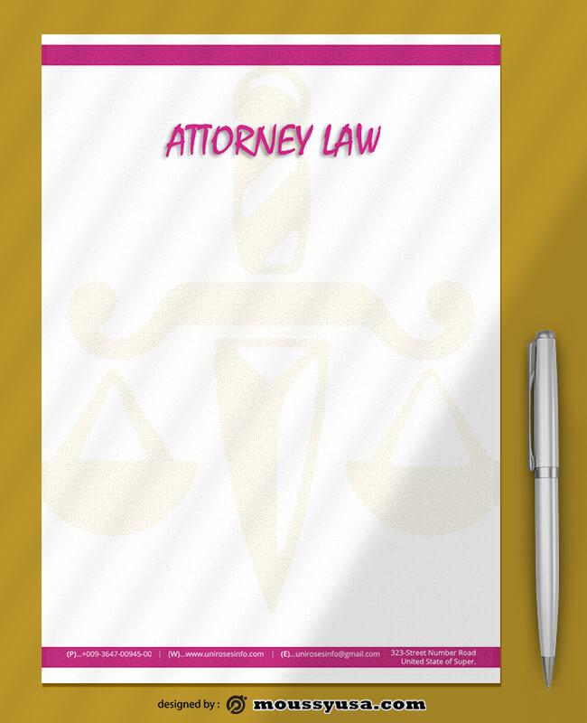 Attorner Law Letterhead Design PSD