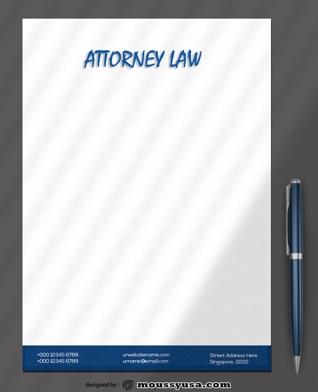 Attorner Law Letterhead Template Example