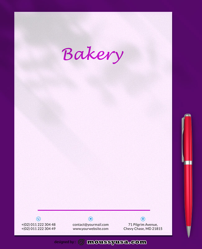 Bakery Letterhead Template Sample