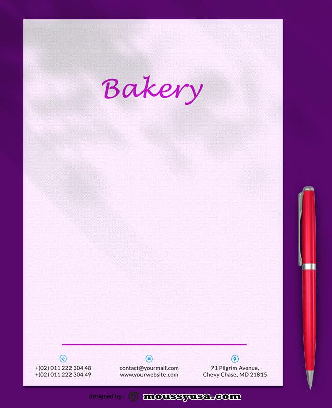 Bakery Letterhead Template Sample