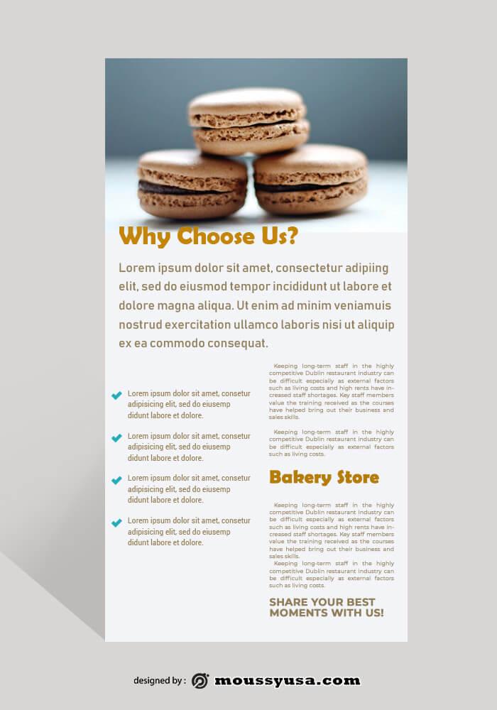 Bakery Rack Card Template Design