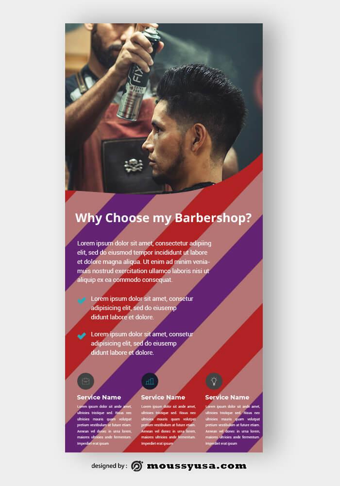 Barbershop Rack Card Template Sample
