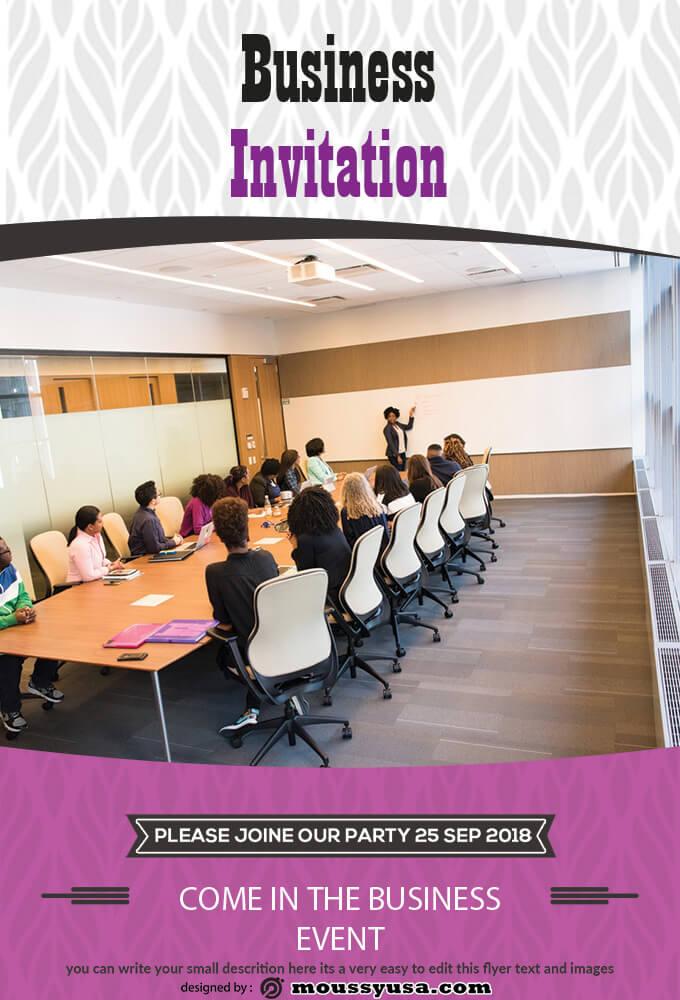 Business Event Invitation Template Ideas
