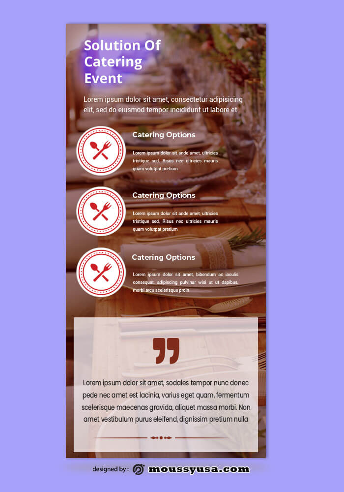 Catering Rack Card Template Ideas